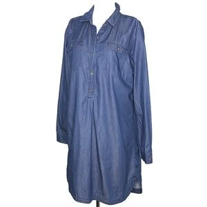 Old Navy Blue Chambray Tunic Dress/Shirt A030498